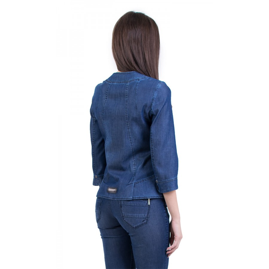 Дамско елегантно дънково сако J 18129 A | INISESS ®