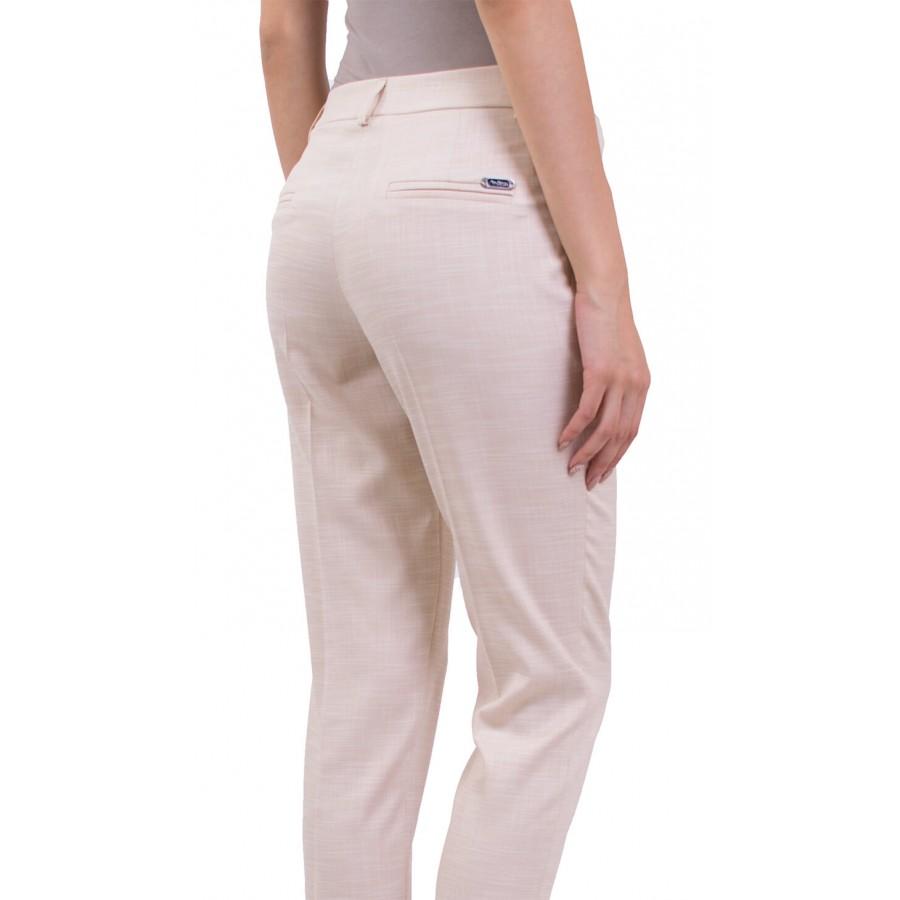 Летен Дамски Костюм с Панталон в Бежов Цвят във вид лен JN 18160 - 158 BIEGE