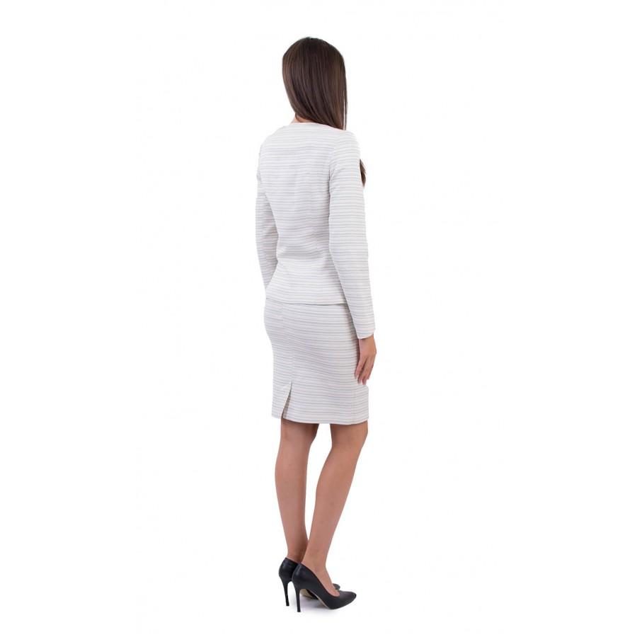 Официален дамски костюм с пола в екрю JP 18112  на топ цена