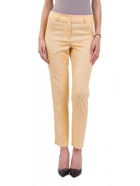 Дамски, Летен Панталон във Вид Лен с 9/10 дължина 18158 Yellow