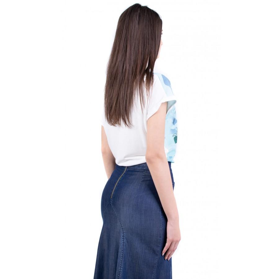 Дамска блуза с флорален десен B 19216 / 2019