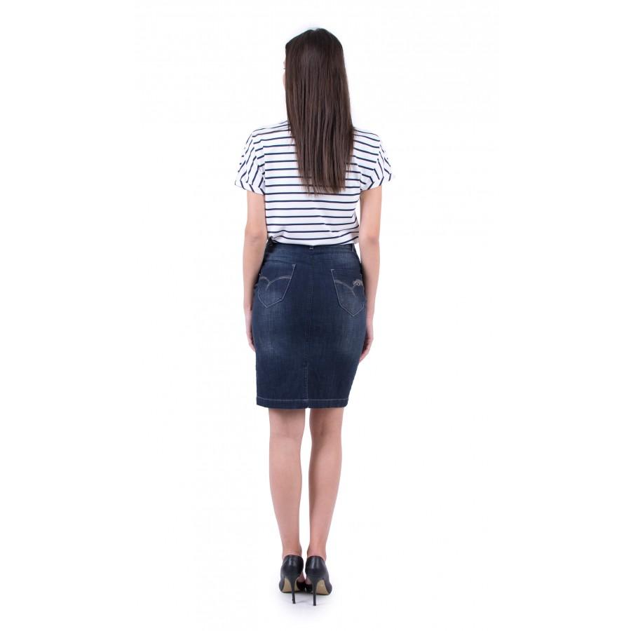 Дамски комплект блуза с дънкова пола BP 19213 - 143 / 2019