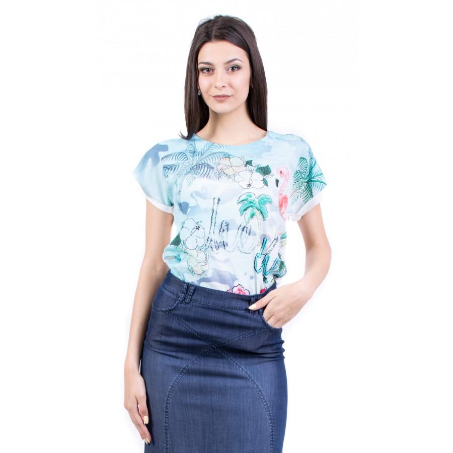 Дамски комплект блуза с дълга дънкова пола BP 19216 - 228 / 2019