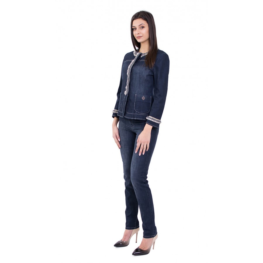 Спортно елегантен дънков костюм с панталон JN 19107 - 108 / 2019