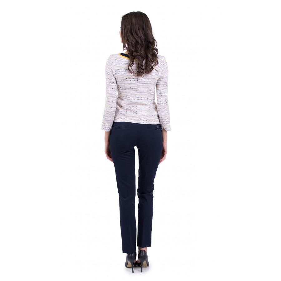 Дамски спортно елегантен костюм с тъмно син панталон JN 19122 - 139 / 2019