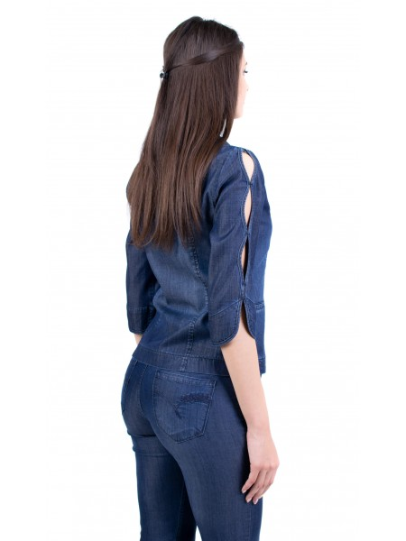 Дамски дънков костюм сако с дънки JN 19223 - 105 / 2019