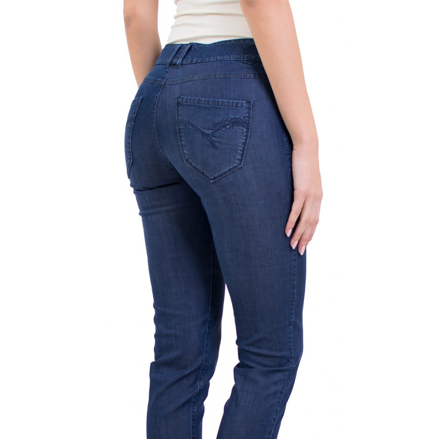 Ladies summer denim denim jeans with length 9/10 N 19105 / 2019