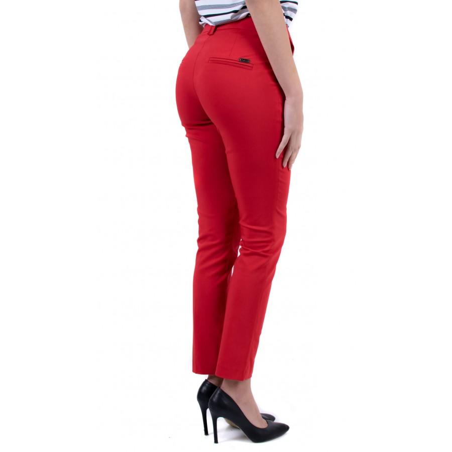 Елегантен дамски червен панталон  N 19126 / 2019