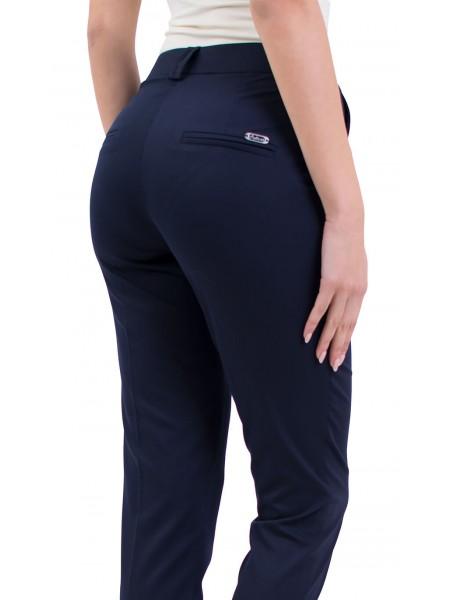 Елегантен дамски тъмно син панталон N 19139 / 2019