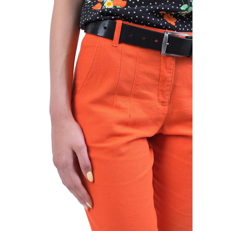 Дамски ленен панталон N 19221 / 2019