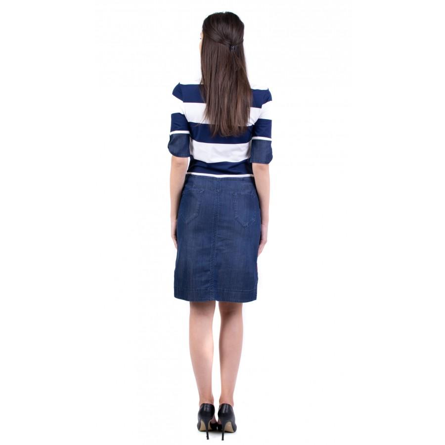 Дамска рокля с функционален дизайн R 19208 / 2019
