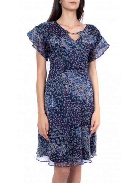 Лятна шифонена рокля R 19236  / 2019