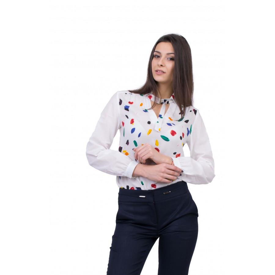 Бяла Памучна Риза B 20157 / 2020