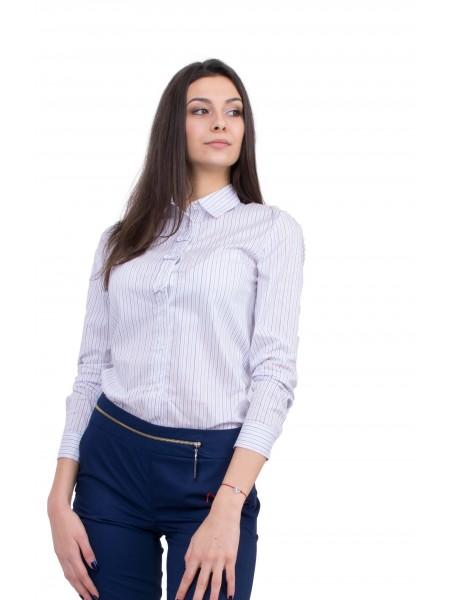 Елегантна Дамска Риза с Дълъг Ръкав  B 20164 / 2020