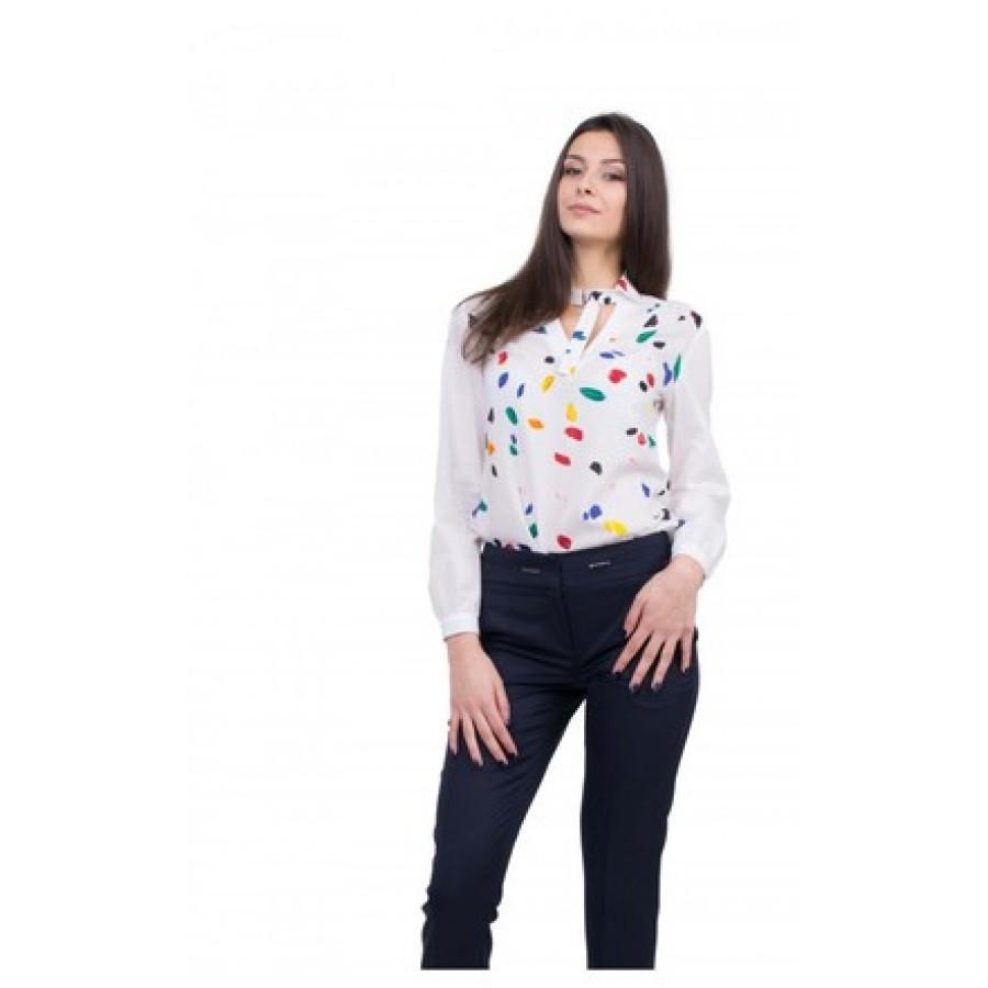 Дамски Комплект от Бяла Риза с Панталон 20157 - 115 BLUE / 2020