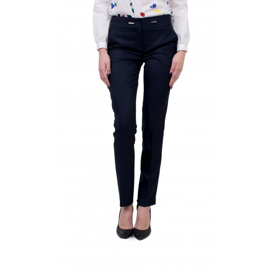 Дамски Комплект от Бяла Риза с Панталон BN 20157 - 115 BLUE / 2020