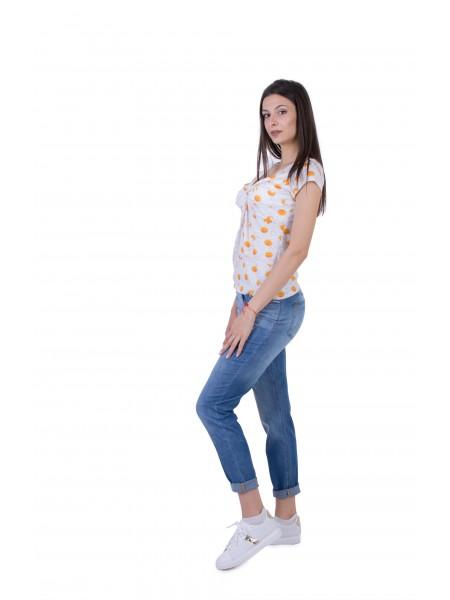 Дамски Комплект от Трикотажна Блуза с Дънки BN 20197 - 234 / 2020