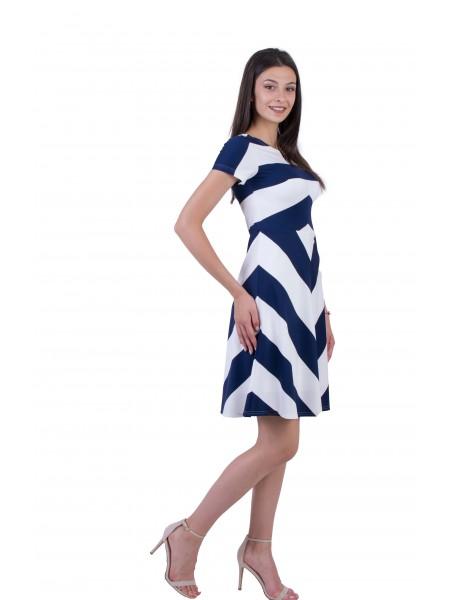 Дамска трикотажна лятна рокля  R 20169 / 2020