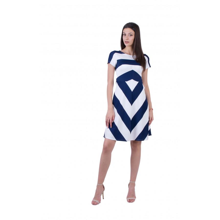 Дамска лятна трикотажна рокля  R 20169 / 2020