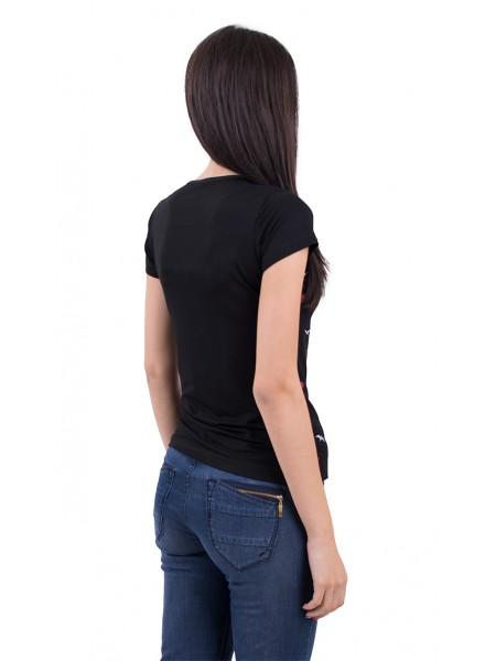Черна Трикотажна Блуза Т 18204
