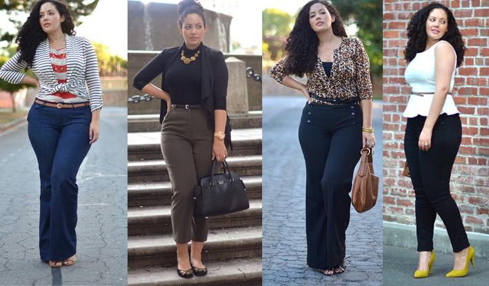 Дънки за жени с тяло с форма на круша
