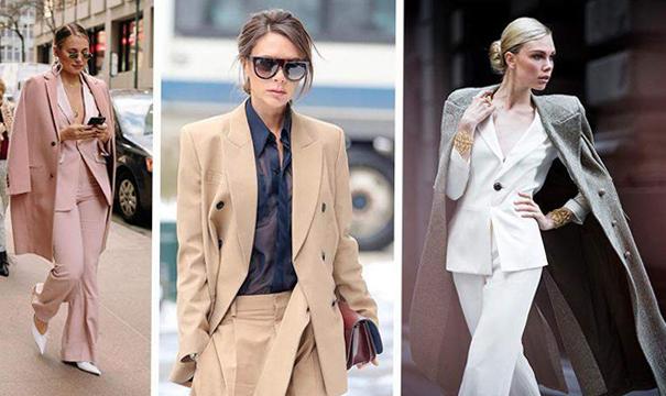 Елегантни комбинации с дамски костюми